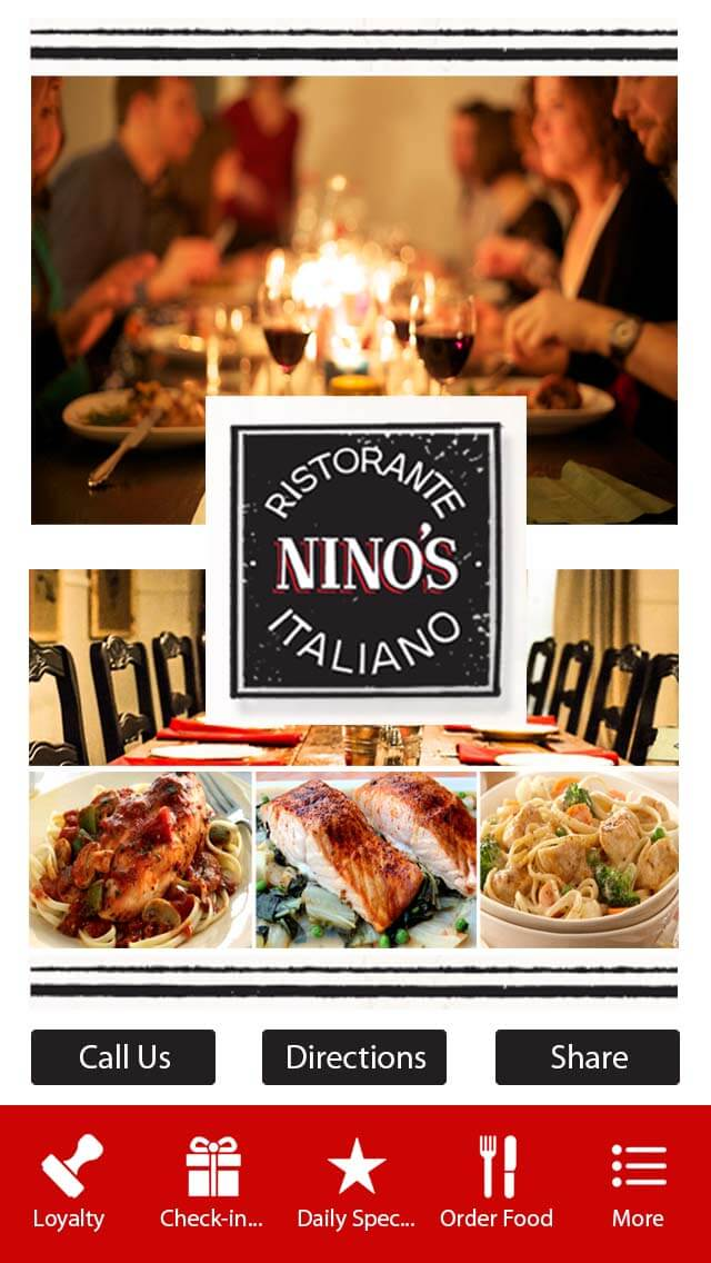 nino 39 s italian restaurant zing apps parent. Black Bedroom Furniture Sets. Home Design Ideas